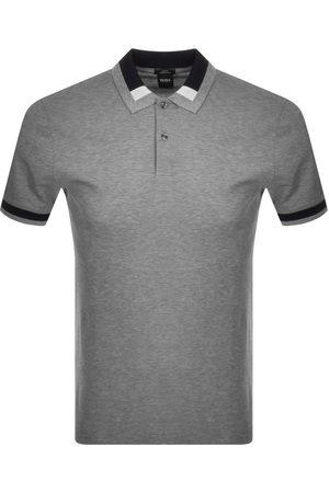 HUGO BOSS BOSS Phillipson Short Sleeved Polo T Shirt Grey
