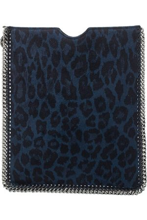 Stella McCartney /Black Leopard Print Faux Leather Falabella iPad Case