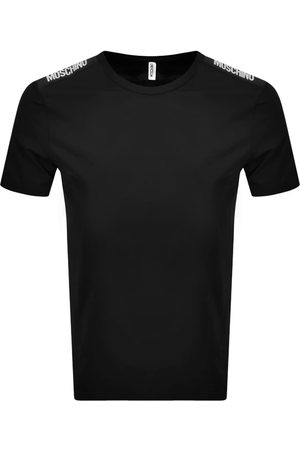 Moschino Men Short Sleeve - Taped Logo Short Sleeved T Shirt