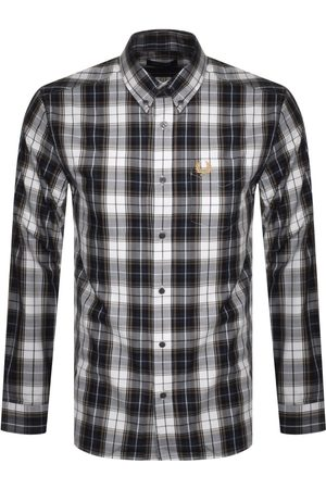 Fred Perry Check Long Sleeved Shirt Navy