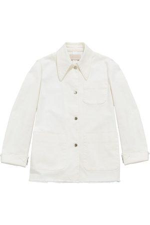 Christopher Kane Women Denim Jackets - Raw-cut denim jacket