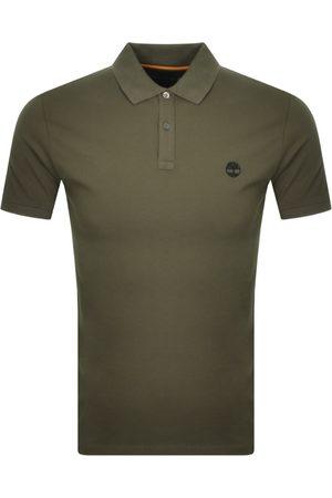 Timberland Logo Short Sleeved Polo T Shirt Khaki