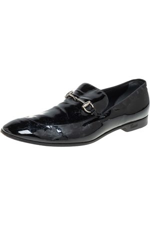 Gucci Patent Leather Horsebit Slip on Loafers Size 43.5