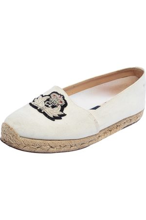 Christian Louboutin Canvas Gala Embroidered Espadrille Flats Size 36