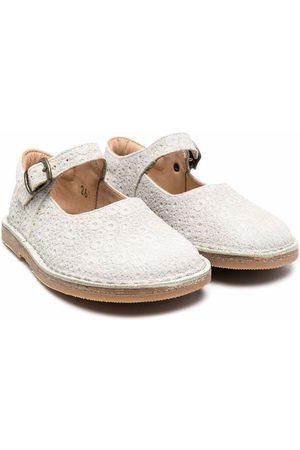 PèPè Buckled ballerina shoes - Grey