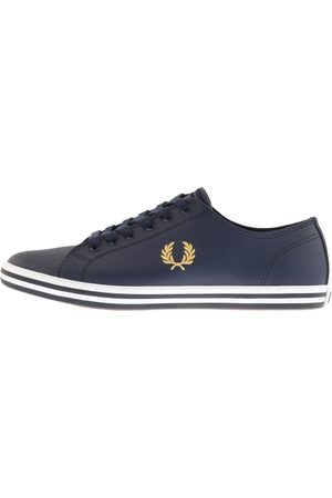 Fred Perry Kingston Leather Trainers Navy