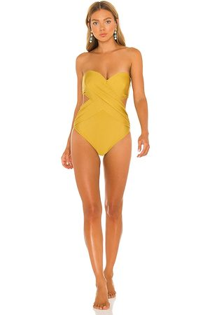Adriana Degreas Strapless Cut Out One Piece in .