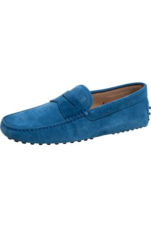 Tod's Suede Penny Slip On Loafers Size 40