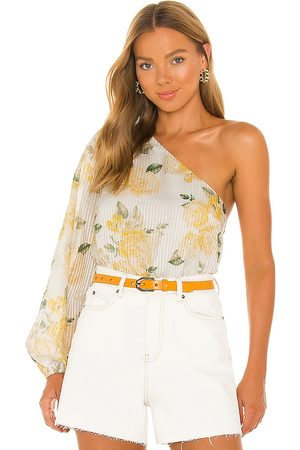 CAMI Lenore Top in White.
