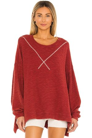 Free People Come Again Tee in Red.