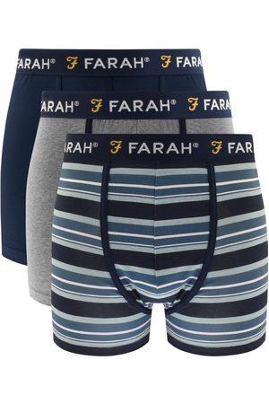 Farah Klaff 3 Pack Boxer Trunks Navy