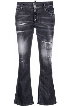 Dsquared2 Ripped flared jeans