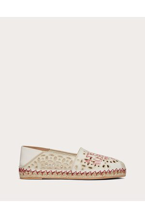 VALENTINO GARAVANI Atelier Shoes 08 San Gallo Edition Espadrilles 15mm Women Natural 63% Cotton 37% Linen 35