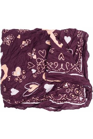 Acne Studios Heart-print crinkled scarf