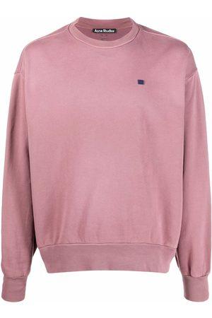 Acne Studios Logo-patch crew-neck sweatshirt