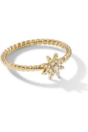 David Yurman 18kt yellow Starburst diamond ring