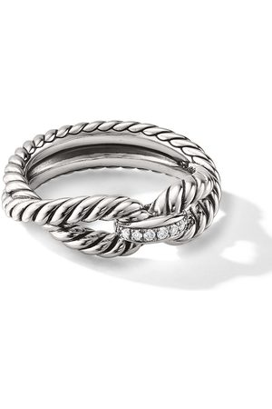 David Yurman Sterling Cable Loop diamond ring