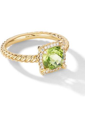 David Yurman 18kt Petite Chatelaine diamond and peridot ring