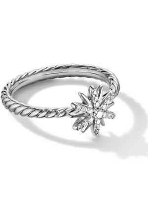 David Yurman Sterling 10mm Petite Starburst diamond ring