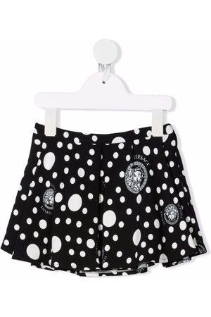 Versace Kids Medusa Pois-print skirt