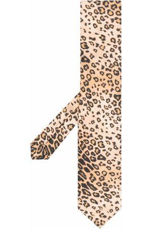 ETRO Leopard-print tie - Neutrals