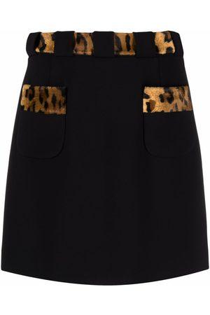 Moschino Leopard-print miniskirt