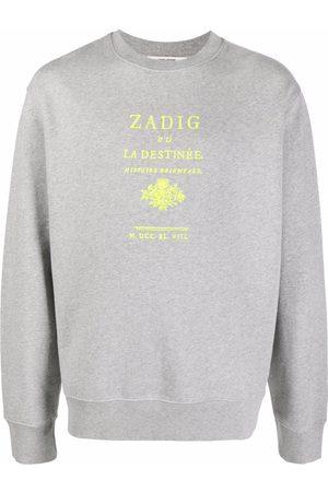 Zadig & Voltaire Simba logo-embroidered sweatshirt - Grey