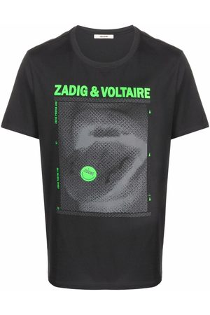 Zadig & Voltaire Ted Happy graphic-print T-shirt - Grey