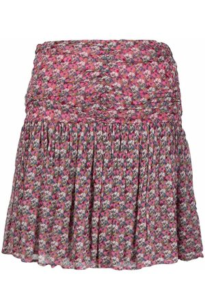 Zadig & Voltaire Floral-print ruched skirt
