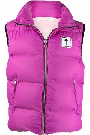 Palm Angels Gilets - Logo-patch padded vest