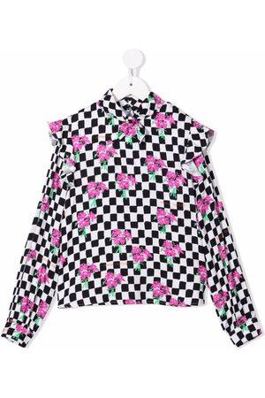 Off-White Kids Chessbodard long-sleeve shirt