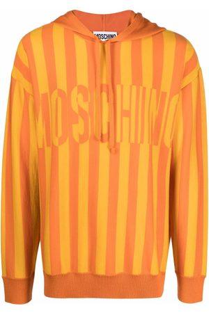 Moschino Intarsia-knit striped hoodie