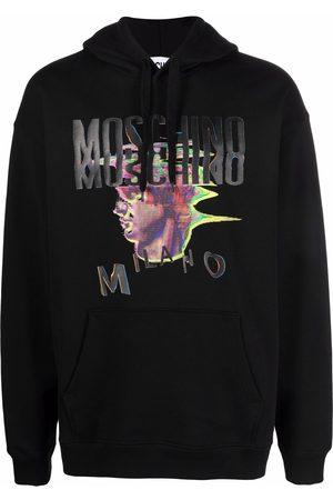 Moschino Warped glitch logo hoodie