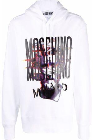 Moschino Warped Glitch Artworks logo print hoodie