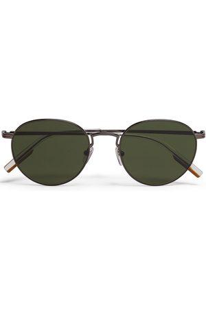 Ermenegildo Zegna Leggerissimo round-frame sunglasses - Grey