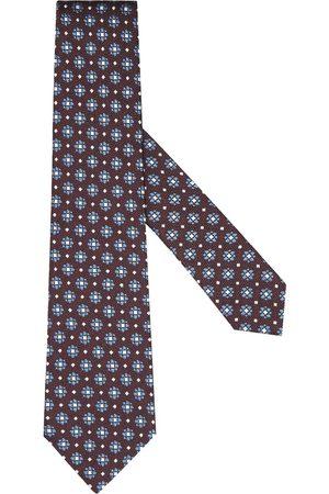 Ermenegildo Zegna Floral-patterned silk tie