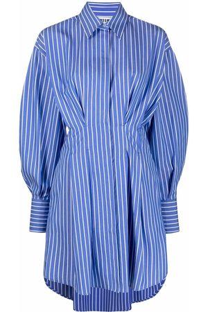 Msgm Pinstripe cotton fitted shirt dress