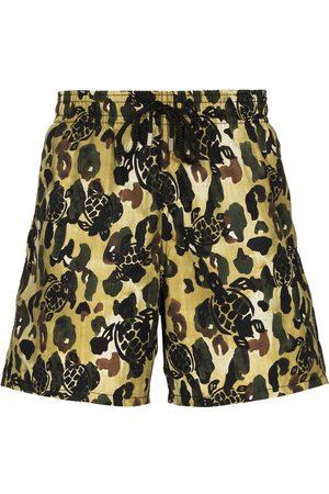 Palm Angels X Vilebrequin camouflage-print swim shorts