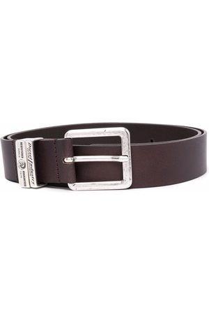 Diesel B-Guarantee textured leather belt