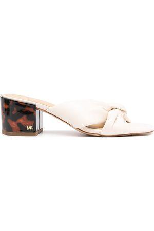 Michael Kors Jolie block-heel leather mules