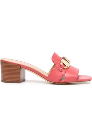 Michael Kors Izzy leather mules