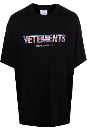 VETEMENTS Logo-print short-sleeve T-shirt