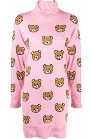 Moschino Teddy Bear knitted roll-neck dress
