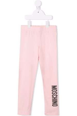 Moschino Logo-print stretch-cotton leggings