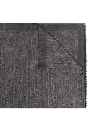 Salvatore Ferragamo Gancini frayed-edge scarf