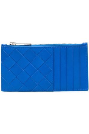 Bottega Veneta Interwoven-design zip-fastening wallet