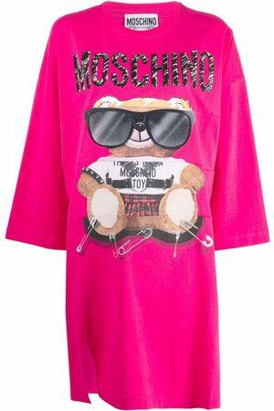 Moschino Teddy Bear print jersey dress