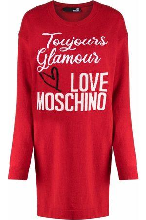 Love Moschino Logo-print knit dress