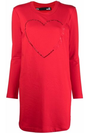 Love Moschino Heart-print dress
