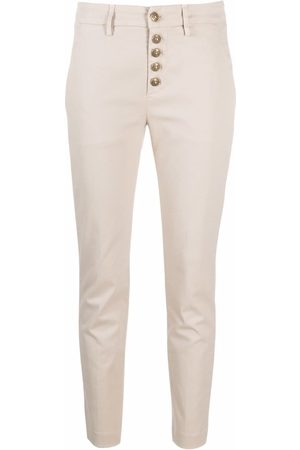 Dondup Cropped skinny-fit trousers - Neutrals